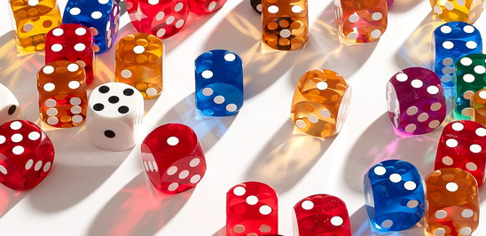 A spattering of precision dice