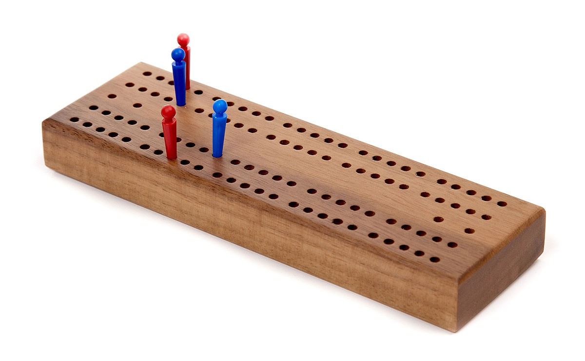 Cribbage Board in Wood - Zontik Games