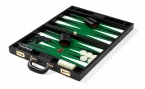 Leather Backgammon Set in Faux Alligator Skin (3)