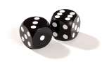 Black Backgammon Precision Dice (2)