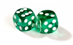 Green Backgammon Precision Dice (2)