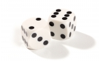 White Backgammon Precision Dice (2)