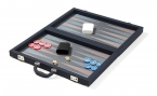 Blue Attache Backgammon Set with Composite Field (3)