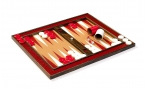 Cork Tabletop Backgammon Set in Red (4)
