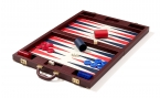 Luxury Backgammon Set in Bordeaux Leatherette (4)
