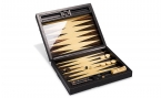 Macassar Ebony Backgammon Set in Cowhide (1)