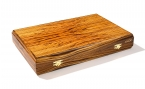 Zebrawood Backgammon Set with Racks (4)