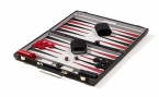 Black Backgammon Set in Suede (4)