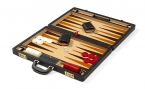 Attache Backgammon Set with Dk. Beige Velour Field (4)