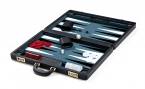 Attache Backgammon Set with Marine Velour Field