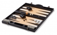 Leather Backgammon Board in Black (1)