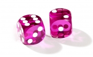 Purple Backgammon Precision Dice (2)