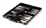 Black Backgammon Set with Gray Stripe (4)