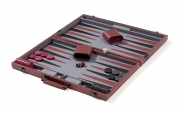 Burgundy Backgammon Set with Black Stripe (4)