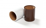 Brown and White Backgammon Dice Cups (2)