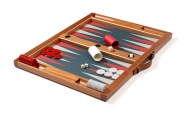 Tabletop Backgammon Set in Mahogany with Handle (4)