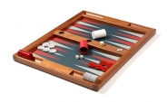 Tabletop Backgammon Set in Mahogany (4)