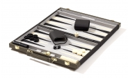 Black Backgammon Set with Green Accent (4)