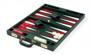 Leather Backgammon Set in Green (3)