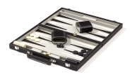 Black Backgammon Set in Leatherette (4)