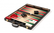 Attache Backgammon Set with Lt. Beige Velour Field (6)