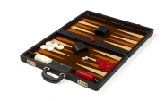 Attache Backgammon Set with Coffee Velour Field (4)