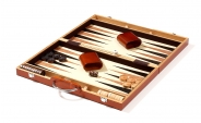 Burl Camphor Wood Backgammon Set (4)