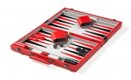 red backgammon set (open)