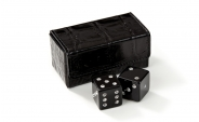Swarovski Crystal Dice Set in Black Alligator Case