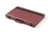 Burgundy Backgammon Set with Black Stripe (3)