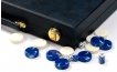 Cork Backgammon Set in Blue (3)