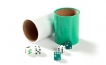 Green and White Backgammon Kit (3)