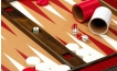 Cork Tabletop Backgammon Set in Red (2)