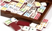 Color Dominoes Set in Briar-Root Wooden Case (2)