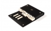 Dominoes Set in Leather Wallet Case (4)