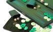 Backgammon Set in Green Cialux (2)