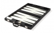 Luxury Backgammon Set in Black Leatherette (2)