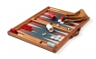Tabletop Backgammon Set in Mahogany with Handle (2)