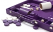 Leather Backgammon Set in Purple w/ Leather Pieces (4)