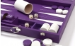 Leather Backgammon Set in Purple w/ Leather Pieces (2)
