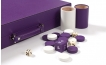 Leather Backgammon Set in Purple w/ Leather Pieces (5)