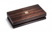 Lacquered Macassar Dominoes in Brown Leather (2)