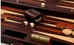 Leather Backgammon Board in Mahogany (2)