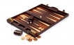 Leather Backgammon Board in Mahogany
