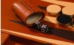 Leather Backgammon Board in Tan (3)