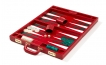 Leather Backgammon Set in Red (3)