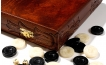 Carved Rosewood Backgammon Set with Racks (3)