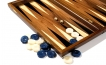 Greek Walnut Backgammon Set with Colored Inlays (2)