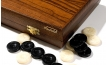 Greek Walnut Backgammon Set with Colored Inlays (3)
