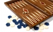 Greek Walnut Backgammon Set with Double Inlays (2)